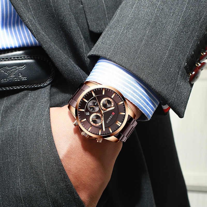 Männer Uhr CURREN Top Marke Luxus Mode Quarz männer Uhren Wasserdicht Chronograph Männlichen Uhr Datum Sport Relogio Masculino