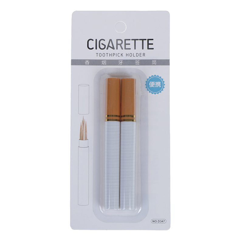2Pc Mini Toothpick Box Outdoor Portable Cigarette Shape Secret Stash Diversion Toothpick Holder Toothpick Container Case Houders