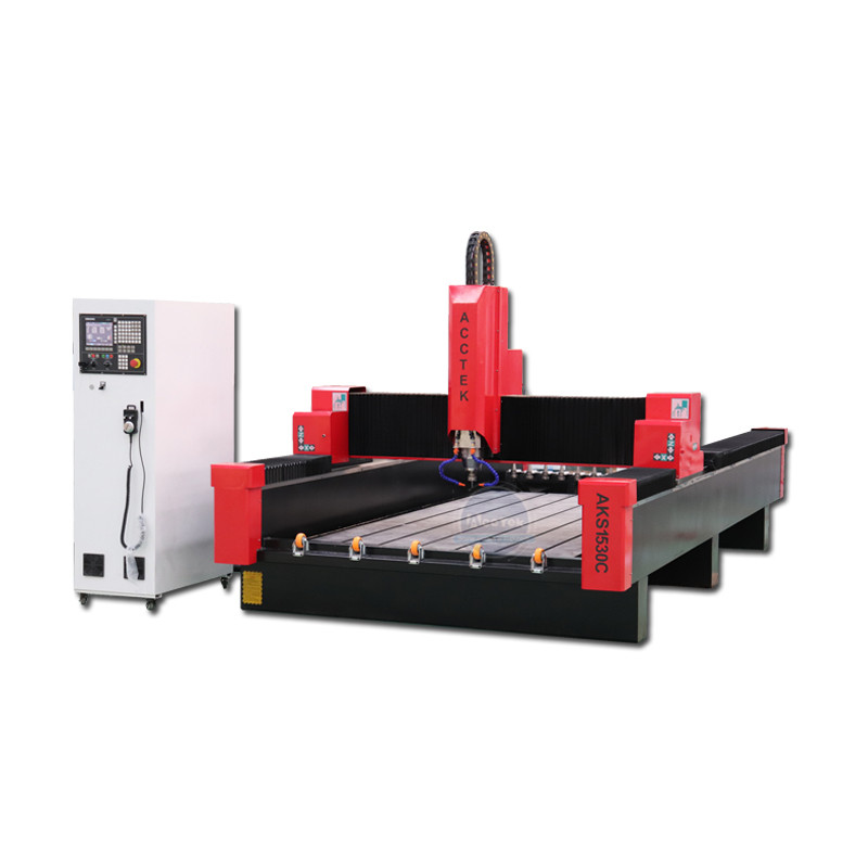 8 Pieces Linear Type Auto Tool Changer Stone Granite Marble Servo Motor Cnc Router Machine 1530
