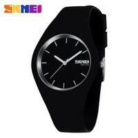 Moda skmei Reloj de cuarzo casual los hombres de las mujeres relojes Montre Femme Reloj de Mujer correa de silicona impermeable del deporte relojes 9068|Relojes de mujer|   -