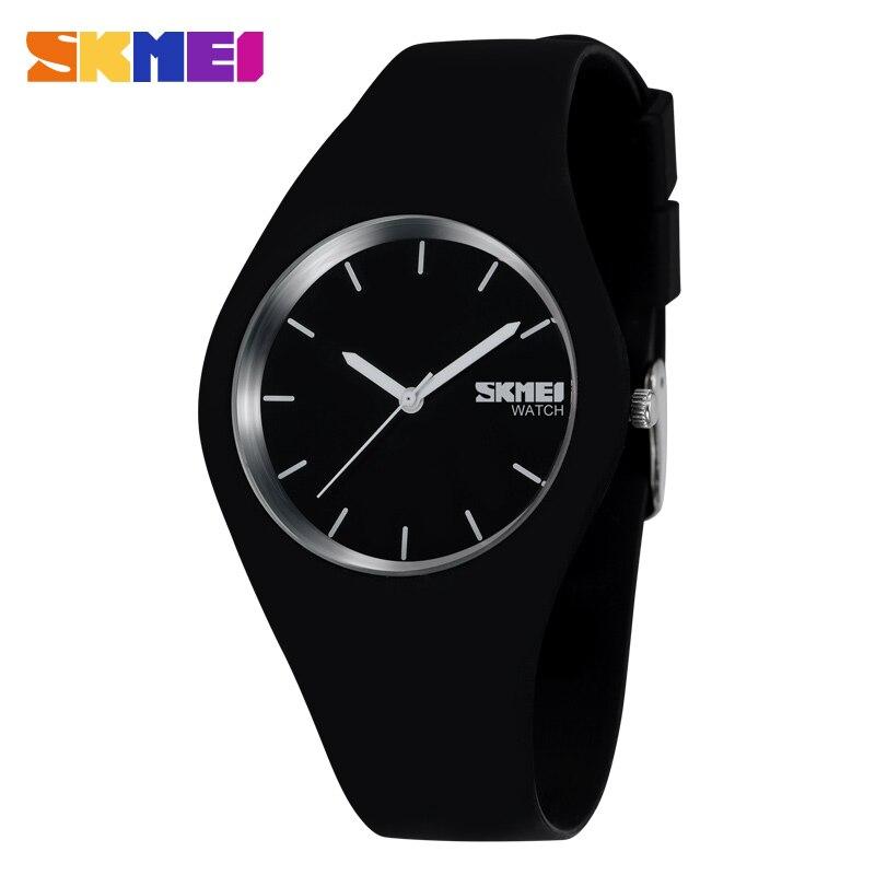 SKMEI Fashion Casual Quartz Watch Women Men Watches Montre Femme Reloj Mujer Silicone Strap Waterproof Sport Wristwatches 9068