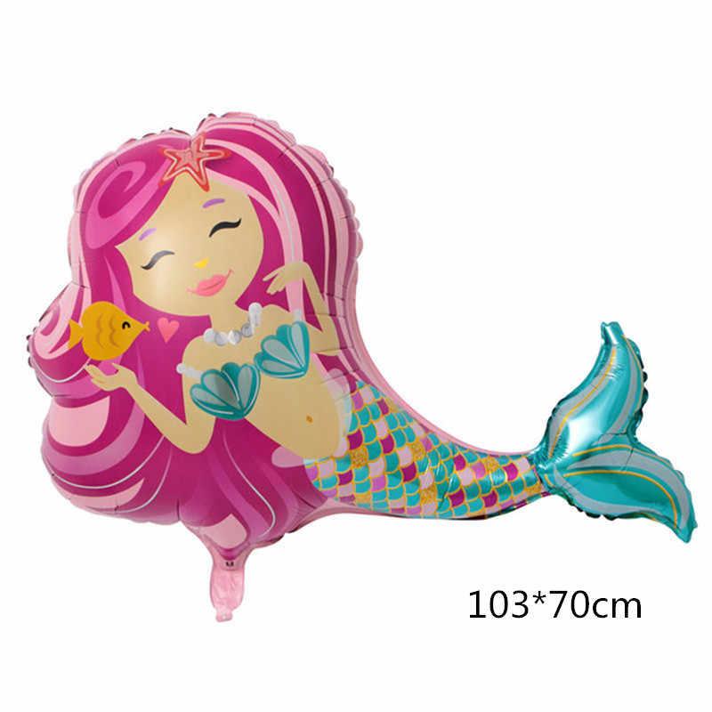 1 Pcs 103 70cm Dos Desenhos Animados A Pequena Sereia Baloes Ariel