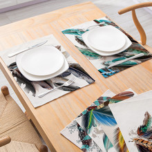 Dream Catcher Pattern Table Napkin Feather Printed Dining Table Mat Placemat Tableware Kitchen Tool Coffee Mat Tea Party Decor
