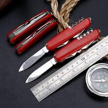 5/7/9/11 em 1 swiss faca dobrável multifuncional conjunto de ferramentas caça facas sobrevivência ao ar livre portátil bolso compacto militar