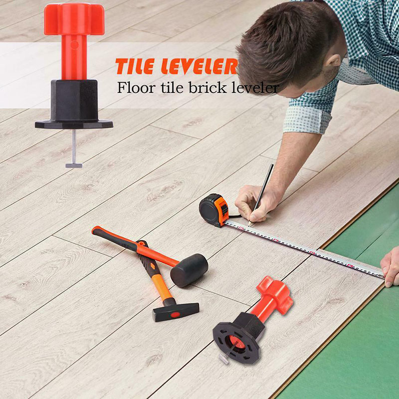75 Pcs Reusable Anti-Lippage Tile Leveling System Locator Tool Ceramic Floor Wall-30