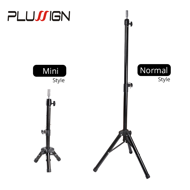 Plussign Famous Brand Black Tripod For Wigs Head Stand For Fixed Mannequin Training Head And Making Wigs Tripod Holder For Salon
