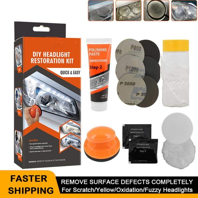 Headlight Polisher For Car Lenses Chemical Polish For Headlights Restoration Polymer Liquid Car Care Polishing Kit Headlamps Wax