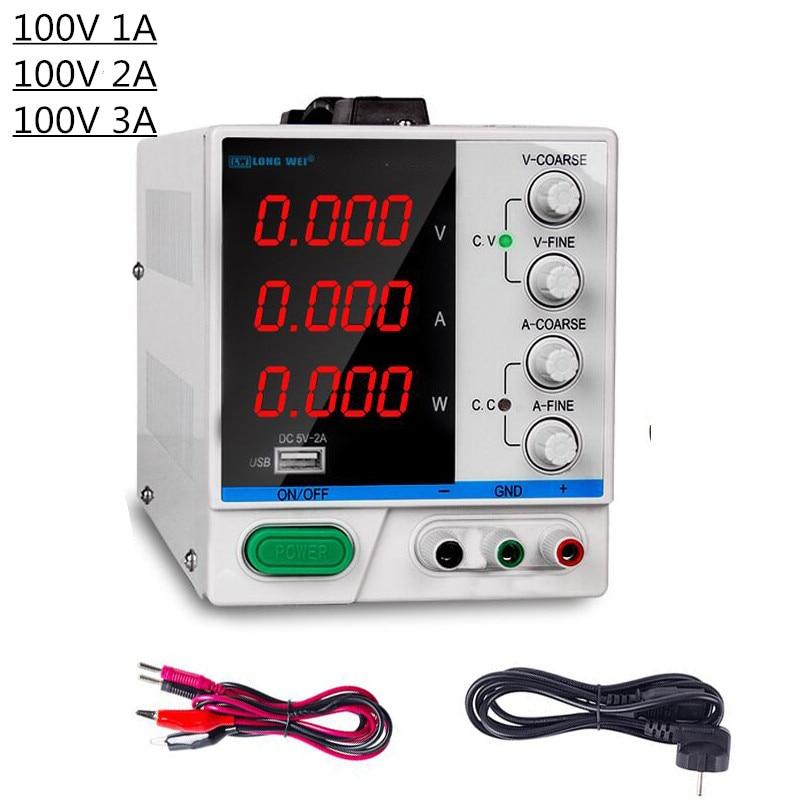 Laboratoire réglable DC alimentation 100V 1A 2A 3A commutation tension régulateurs Source d'alimentation LED affichage numérique outil de réparation