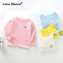 Girl Tops Shirt Clothing Bottoming Long-Sleeve Kids 1-5-Years 100%Cotton Autumn Soft