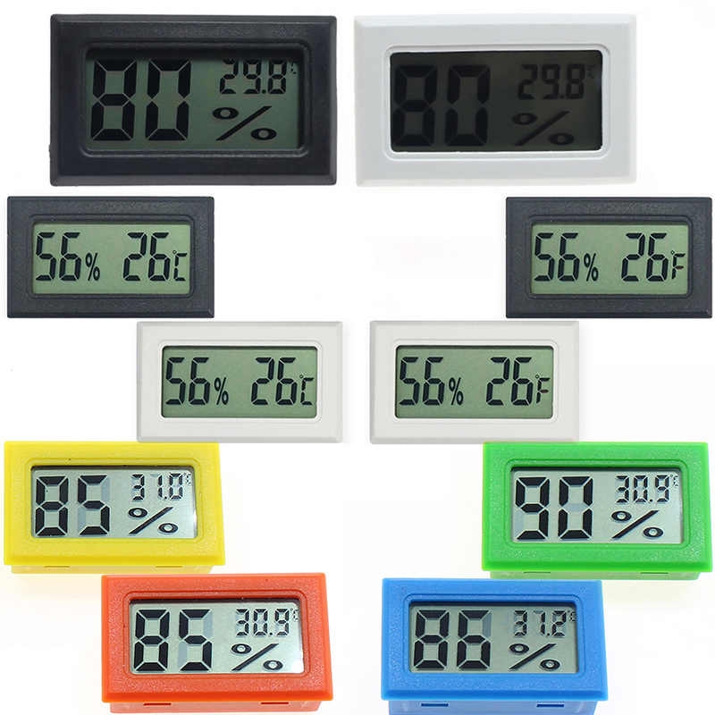 1Pc Mini Indoor Digitale Lcd-Temperatuur-vochtigheidsmeter Thermometer Hygrometer