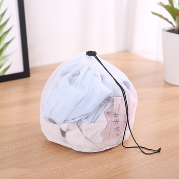 Drawstring Design Laundry Bag With Portable Rope Suitable For shirts And sweaters