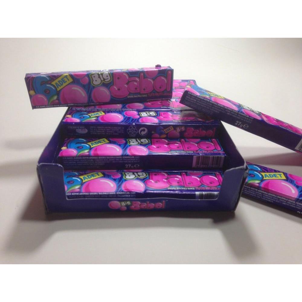 Big Bubble Gum Chewing Gum Strawberry Banana Melon Tutti Frutti 100 Gums + 8
