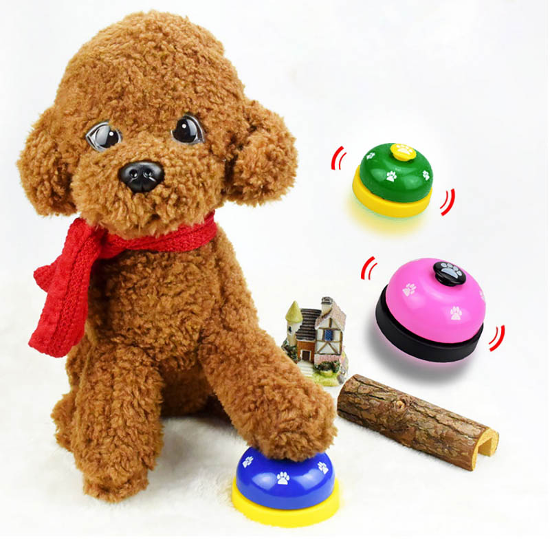 Pet Call Bell Dog Toys IQ Training Dog Cat Feeding Ringer Educational Toy Pets Toys Interactive Bell Eating Food FeederNew-1