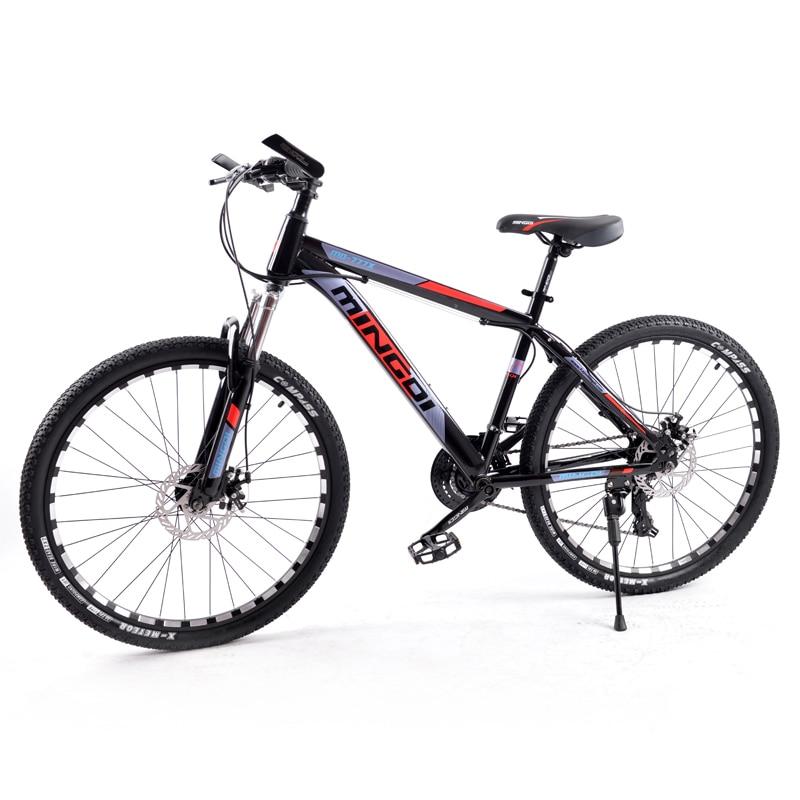 GMINDI Высококачественный 26-дюймовый горный велосипед с 24-скоростной регулируемой рамой из углеродистой стали, двойной дисковый тормоз, беспл...