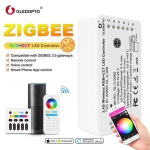 Image 1 - GLEDOPTO Controlador LED inteligente RGBCCT ZigBee Plus, funciona con Amazon Echo Plus, aplicación de Control remoto para puerta de enlace Zigbee 3,0