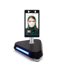 Gate model 8-inch flat face recognition temperature measurement attendance machine thermal imaging scanner system