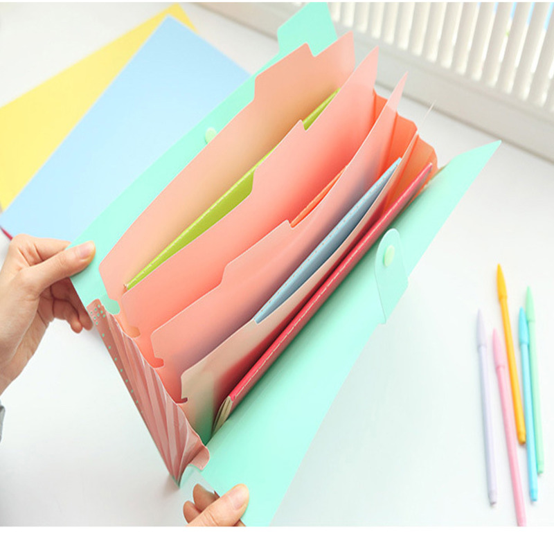Folder A4 File Document Bag Pouch Bill Folder Holder Organizer Fastener Office Supplies Document Organizer Binder Carpetas