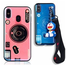 Phone Cover for Redmi 6 6A 4X 5 Plus Note4 4X 5A 6 6pro 7 GO Note5pro S2 Blu-ray Plated Camera with Lanyard Phone Back Case(China)