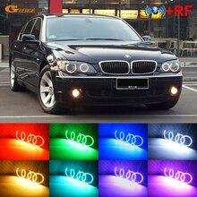 Dla BMW E66 E65 Facelift 745i 750I 760i 750Li 760Li 2006 2007 2008 RF zdalny Bluetooth APP wielobarwne RGB led angel eyes