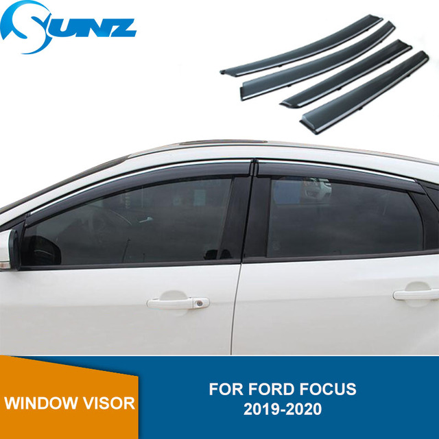 Deflector de ventana de coche para Ford Focus 2019 2020, Hatchback/Sedan, visera de ventana, parasoles, Deflector de lluvia y sol