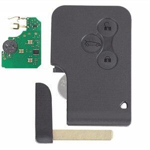 Image 5 - Wilongda araba aksesuarları 3 düğme uzaktan anahtar 433Mhz pcf7926 pcf7947 çip Renault megane 2 Scenic 2 kart araba anahtar
