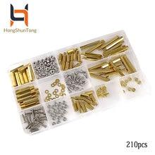 210pcs/Set Screws-Kits Standoffs Stud Pi 4-Model B/3B Copper/hex All-Kinds-Of/raspberry