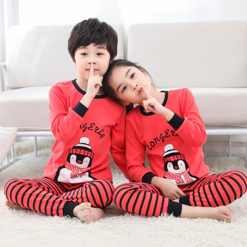 Clearance SaleChristmas Pajamas Nightwear Clothes-Sets Sleepwear Girls Teens Boys Children Cartoon