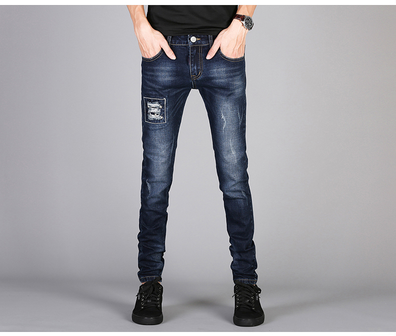 KSTUN Mens Jeans Famous Brand Blue Stretch Distressed Frayed Hiphop Streetwear 2019 Autumn RIpped Jeans Man Casaul Pants Homme 15
