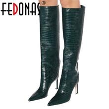 FEDONAS Knee High Motorcycle Boots
