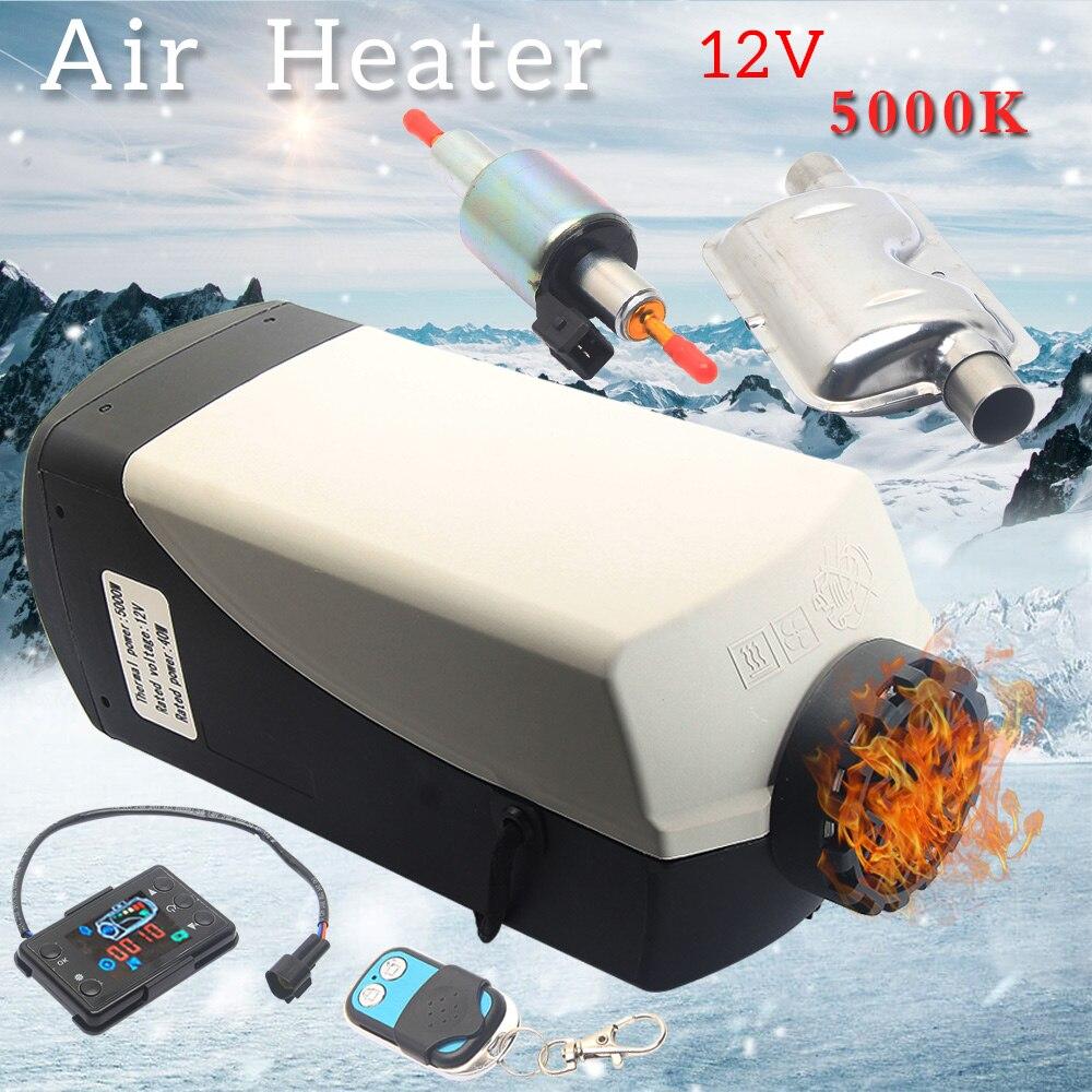 Автомобильный обогреватель 5 кВт 12 В, воздушный обогреватель, стояночный нагреватель, беспроводное электрическое отопление, 24 В, дизельный Обогреватель для автомобиля, грузовика, автобуса, лодки