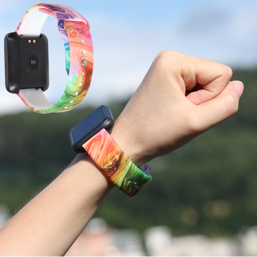 18mm 20mm 22mm Silicone band for Huawei Withings Samsung Galaxy gear s3 Amazfit Bip Smart watch replacement Strap wristbands in Watchbands from Watches