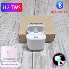 i7s tws i12 TWS 1:1 Bluetooth Earphone Wireless Earphones PK w1chip Sports handfree