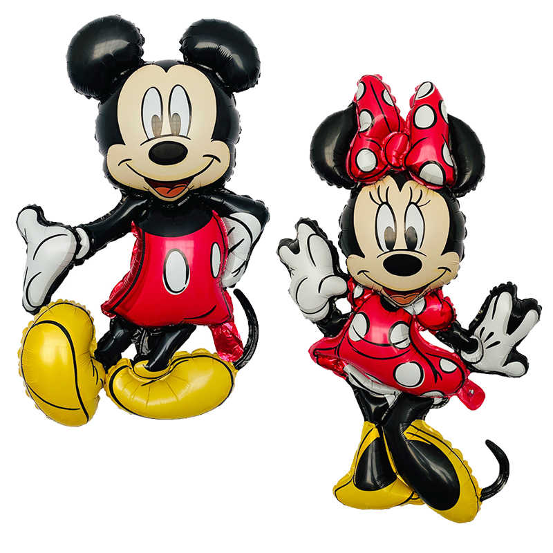 1psc/ Mickey Minnie Mouse Head Foil Balloon Kids Birthday Party Decoration Baby Shower Supplies Inflatable Balloons