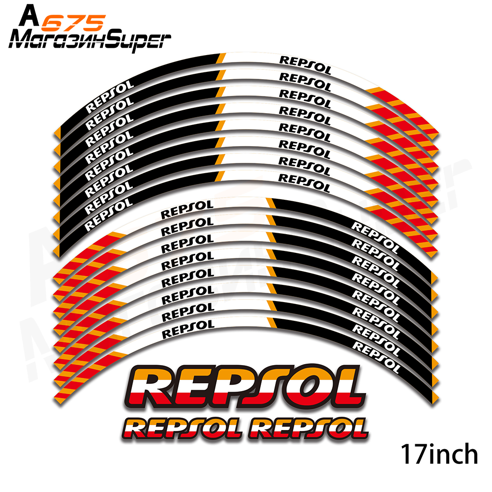 New Motorcycle Wheel Decals Reflective Stickers Decal 17inch Rim For HONDA REPSOL CBR1000RR CBR600RR F5 CBR 1000 600