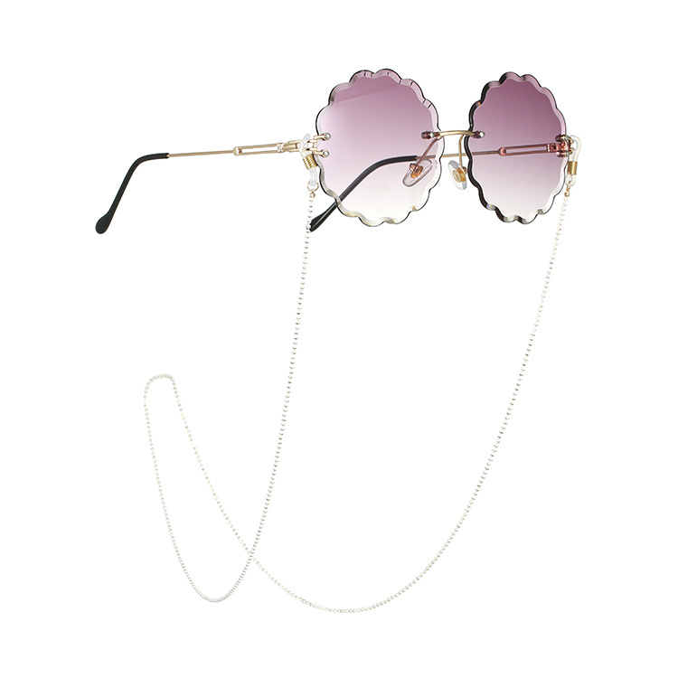 Chic Fashion Women Bead Eyeglass Chains Sunglasses Reading Beaded Glasses Chain Eyewears Cord Holder Neck Strap Rope Neck Chain