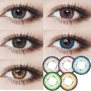 Cournot Colored Women Contact Lens Cosmetic Soft Student Korea Solotica Contact Lens for Women image