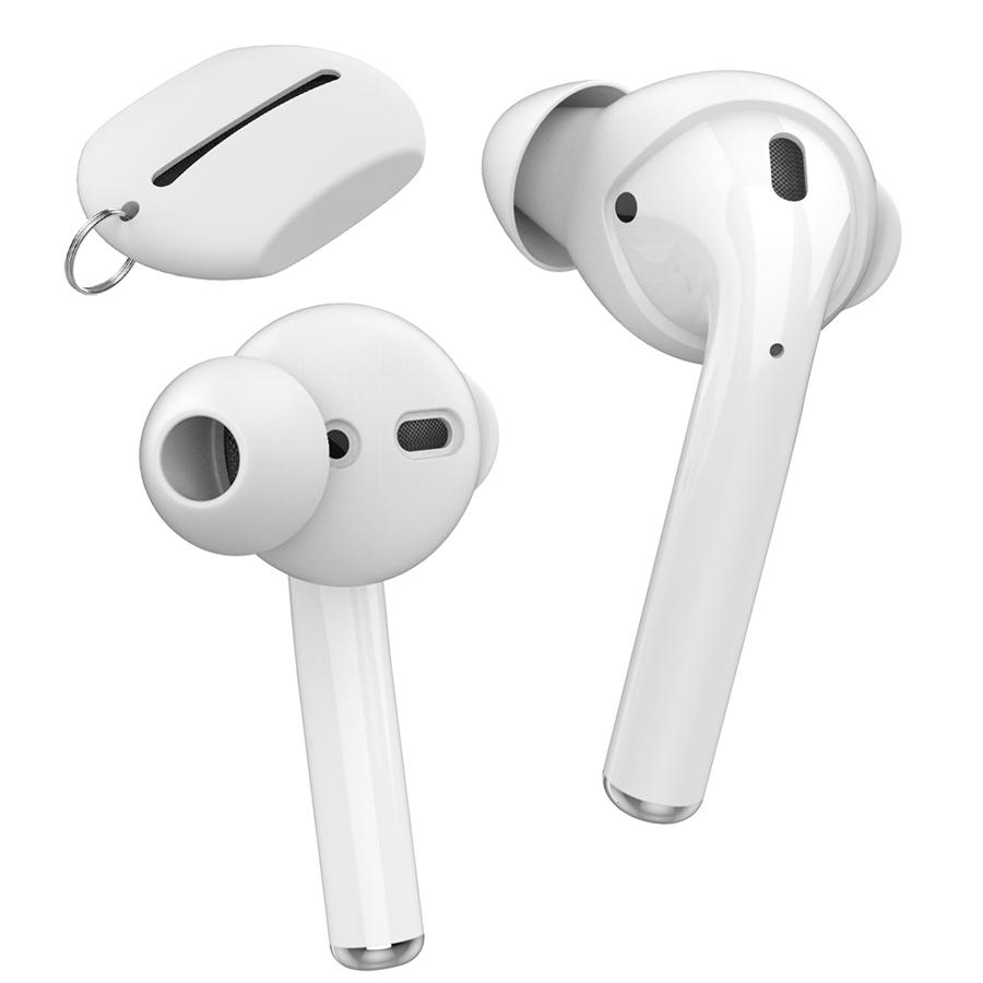 Silicone Earbuds Cover Case for Airpods 2 Headphones Eartips Storage Box for Airpods Accessories