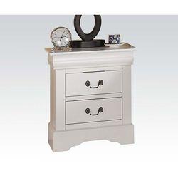 Szafka nocna szuflada Organizer szafka do przechowywania stolik nocny meble do sypialni Woode Nordic biały stolik nocny z litego drewna