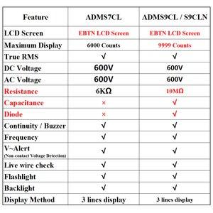 Image 5 - BSIDE Digital Multimeter EBTN Display Analog Tester DC AC Voltmeter Capacitance Diode NCV Ohm Hz Test LED Live Voltage Indicator