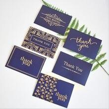 1 paczka brązujący ciemnoniebieski dziękuję wizytówka dziękuję pół-krotnie biała koperta 15*10CM kwiat na prezent sklep wiadomość