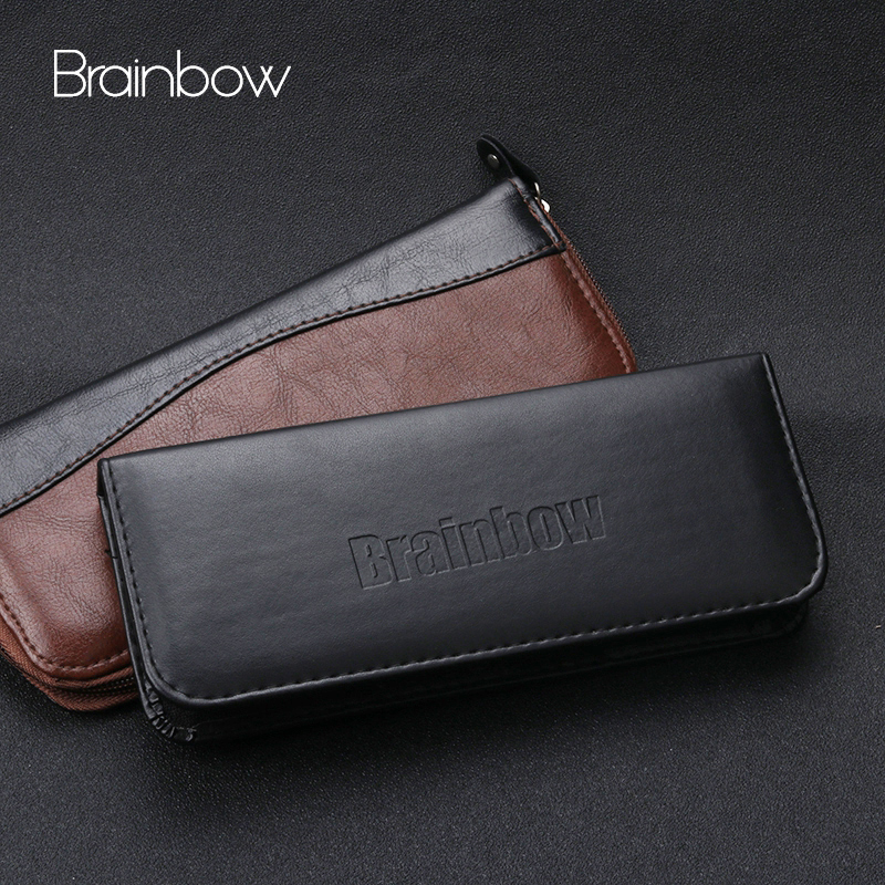 Brainbow Hair Scissors Bag Multifunction Storage Holder Pouch For Combs Clips Barber Professional PU Leather Hairdressing Tools
