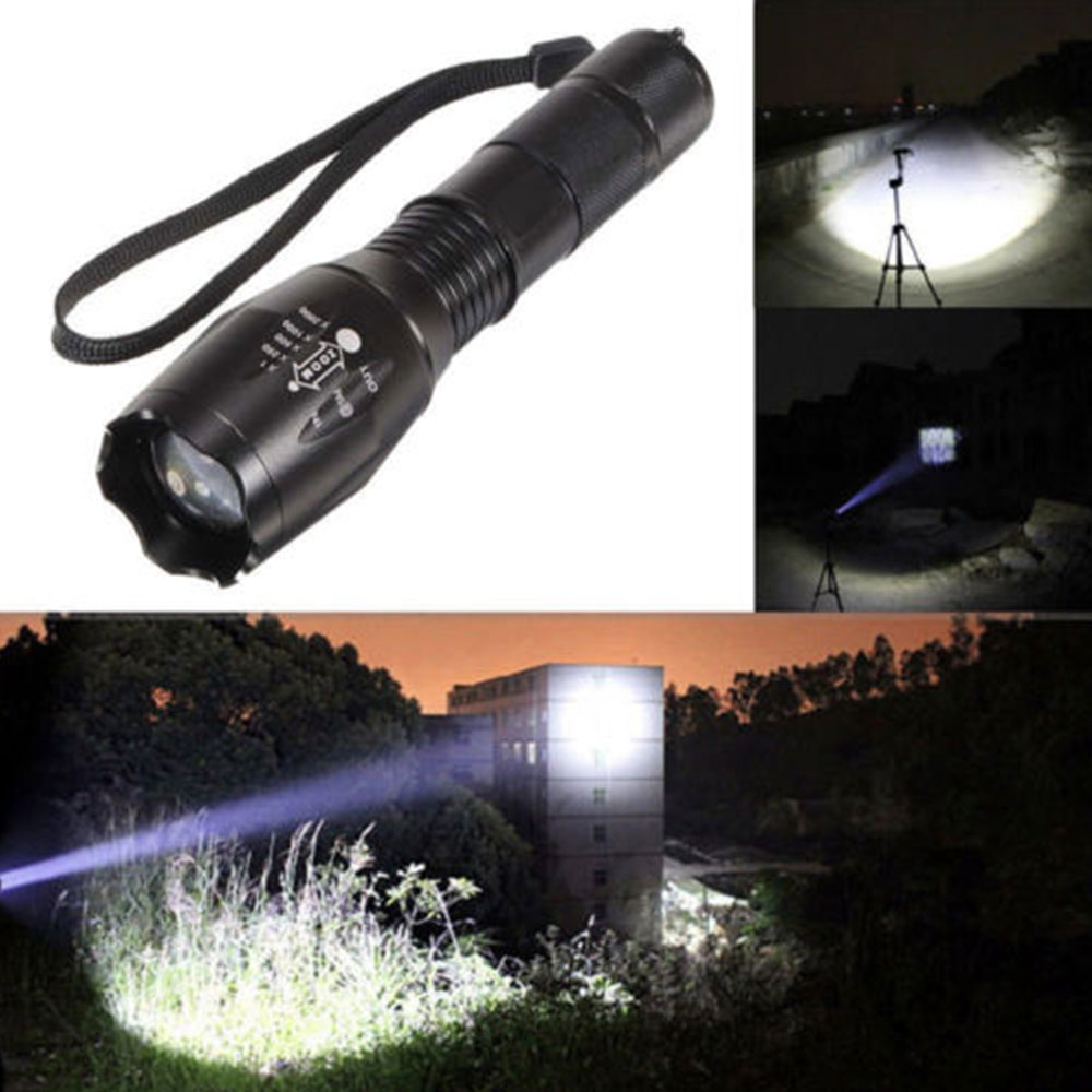 LED Flashlight Torch Emergent Lamp Climbing Cycling Tactical Military Camping Zoomable Hiking Outdoor Sporting XML-T6 5 Modes