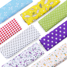 25x25cm Cotton Fabric Printed Cloth Sewing Quilting Fabrics for Patchwork Needlework Cotton fabrics for DIY 7pcs/set