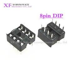 600 pces 8pin dip ic soquetes adaptador tipo 8 pinos 8 p pés planos novo