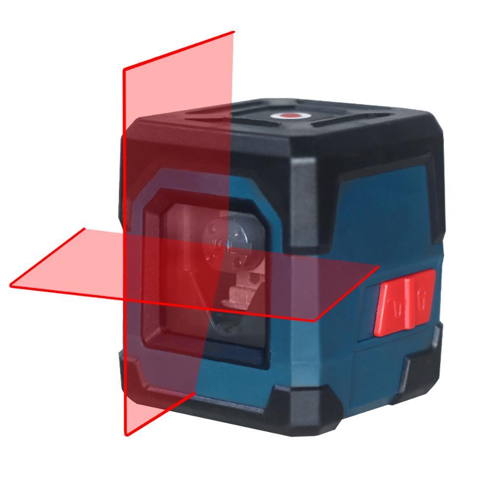Лазерный уровень HANMATEK LV1, нивелир с вертикальными и горизонтальными линиями, диапазон измерения 50 футов