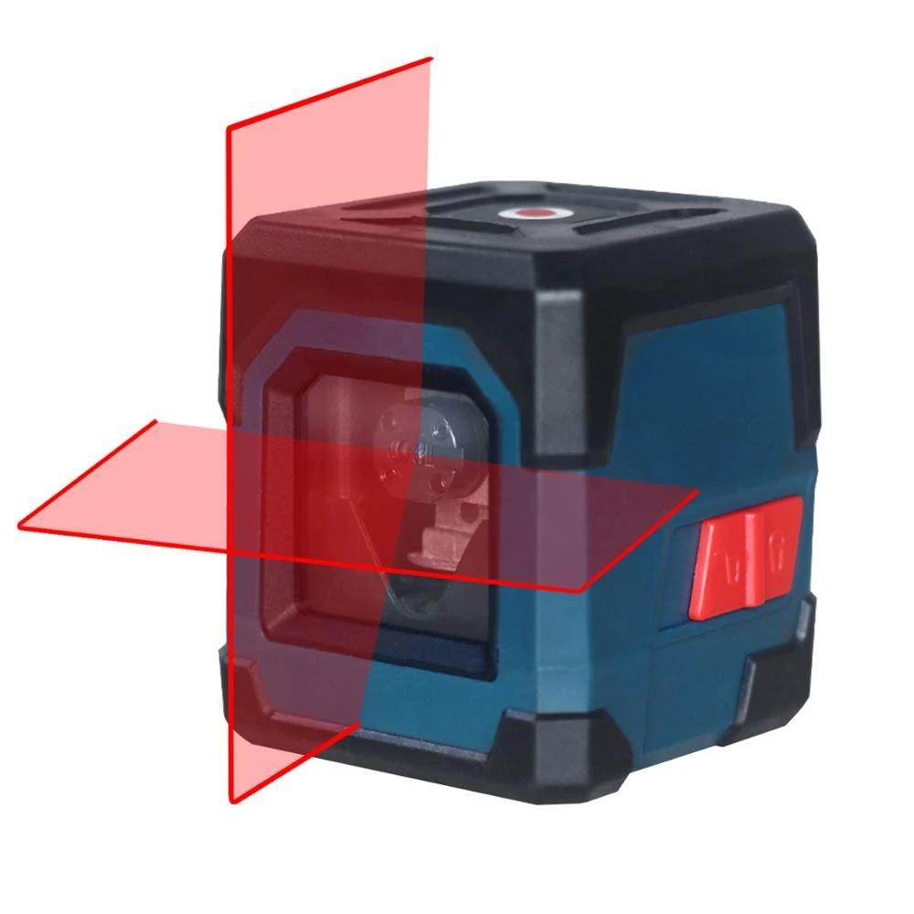 HANMATEK LV1 poziom lasera Laser krzyżowy z zakres pomiarowy 50ft, samopoziomujący linia pionowa i pozioma