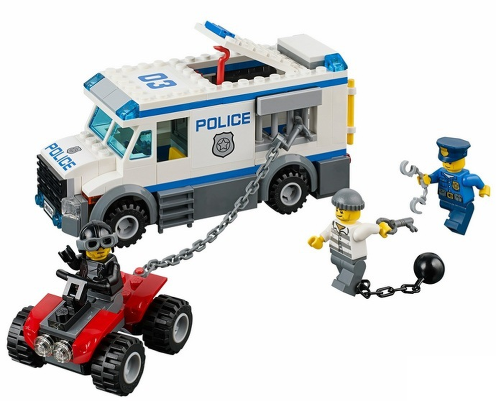 New 198pcs Prisoner Transporter Urban Police City Building Blocks Bricks Toys For Children Legoinglys Christmas Gift