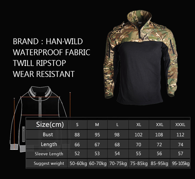 HAN WILD Camouflage Hunting Clothes Tactical Frog Suits Military Uniform Paintball Airsoft Sniper Combat Shirt&Pants Jersey 2