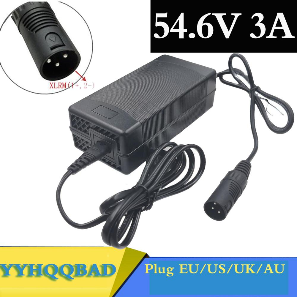 54 6V 3A Charger 54 6v 3A electric bike lithium battery charger for 48V lithium battery pack XLR Plug 54 6V3A charger