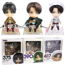 Action-Figure Collectible Titan Attack 417 Cleaning-Ver. Eren PVC Levi 375 Model-Toy